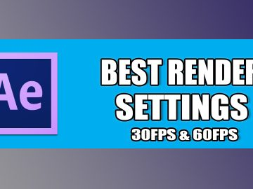 After effects Render setting