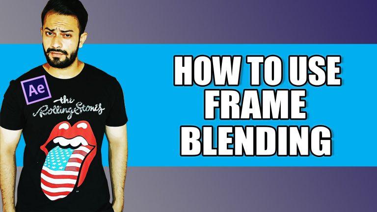 Frame Blending after effects