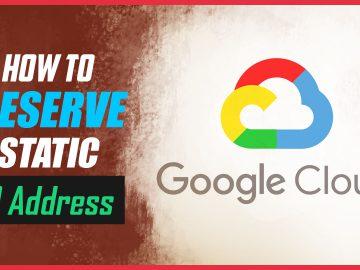 reserve static IP address
