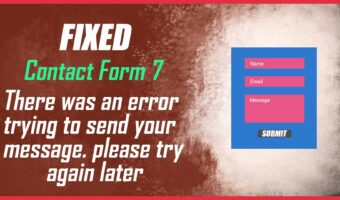 contact form 7 there was an error trying to send your message. please try again