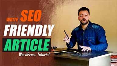 write SEO friendly article