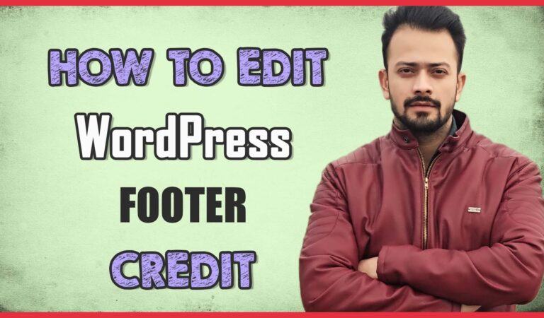 How to Edit Footer in WordPress (Super Simple) Step by step