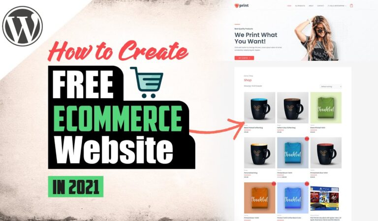 How To Build An eCommerce Website From Scratch – 100% Free